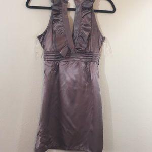 Minuet Ruffled Front Open Dress- Size S-Strap Back